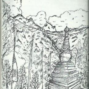旅のスケッチ in Nepal その3