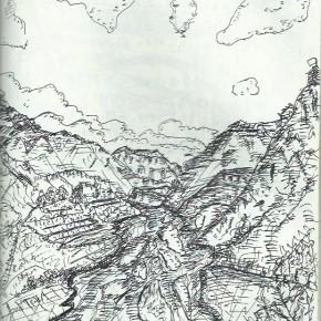 旅のスケッチ in Nepal その5