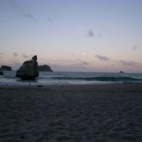 ビーチでカリンバ